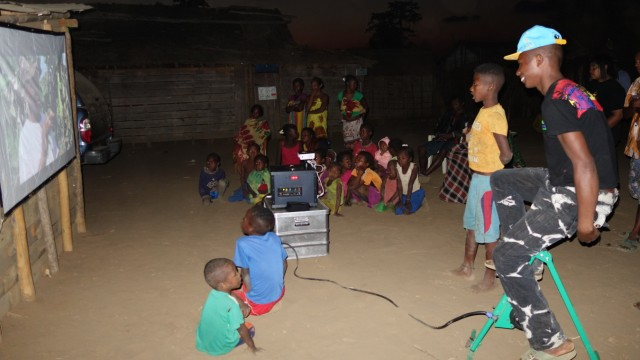 Das mobile Kino in Madagaskar